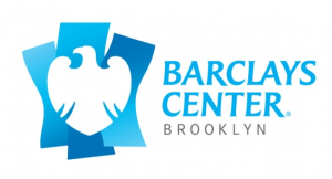 Barclays Center logo in blue on white background pic
