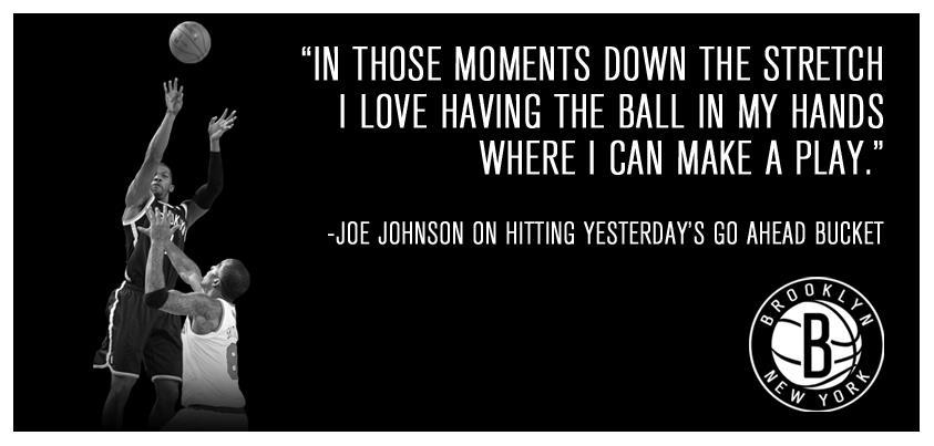 Joe Johnson clutch image