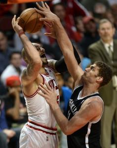 Brook Lopez blocks Bulls Varlos Boozer
