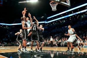 Kris Joseph Celtics  basket against Brookln Nets