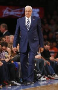 Phil Jackson walking on sidelines