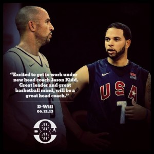 Deron Williams and Jason Kidd at olympics on Dwill website