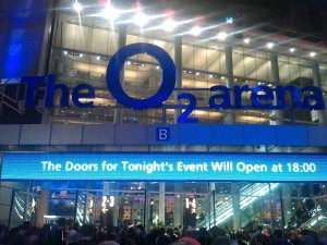 London O2 arena pic