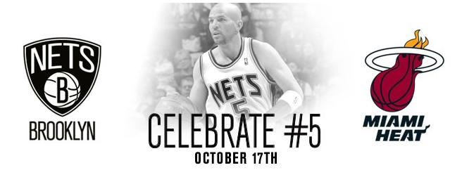 Jason Kidd retirement ceremony ad by Nets