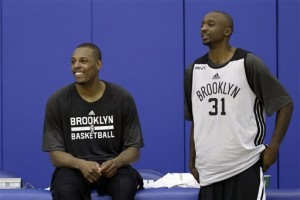 Paul Pierce and Jason Terry at Nets training camp