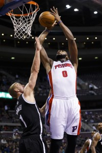 Pistons Andre Drummond dunks on Mason Plumlee