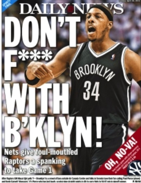 Daily News backpage F@#k Yeah after game 1 2014 playoffs