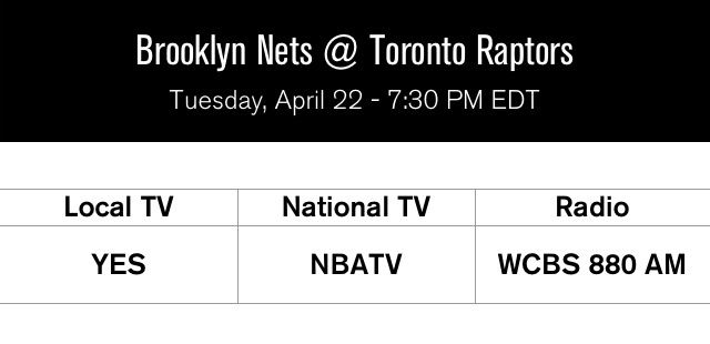 Nets at Raptors Game 2