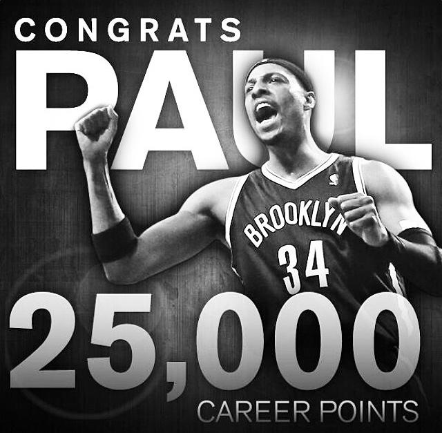 Paul Pierce 25000 Points