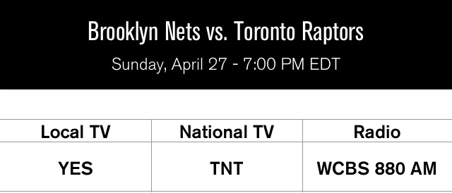 Raptors at Nets Game 4 Rd 1 2014 playoffs