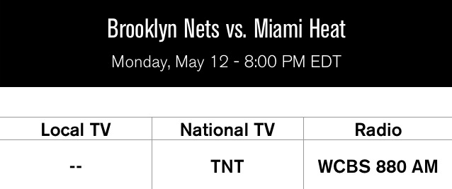 Game 4 Heat at Nets Rd 2 2014