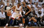 Heats Dwayne Wade backs down Alan Anderson