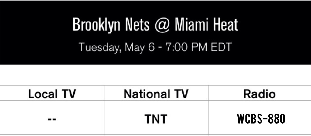 Nets at Heat Game 1 round 2