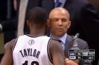 Jason Kidd spiling soda vs Lakers