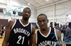 Cory Jefferson and Markel Brown ar rookie photo shoot