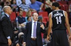 Lawrence Frank coaching Nets with Jason Kidd