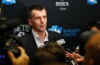 Mikhail Prokhorov takes questions prior to Nets 2014 home opener vs Thunder