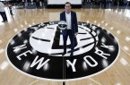 May 16, 2016; Brooklyn, NY, USA; Brooklyn Nets introduce new head coach Kenny Atkinson at HSS Training Center. Mandatory Credit: Noah K. Murray-USA TODAY Sports